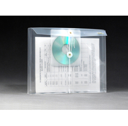 Clear Plastic Envelopes with String, CD Pocket, Letter, Side
