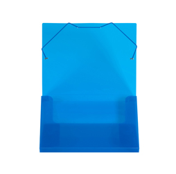1-inch Capacity Plastic Document File Tote, Blue