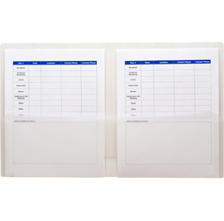 2-Pocket Plastic Folder, Clear Plastic Folder