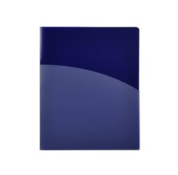 4-Pocket Folder,  Blue Plastic Folder