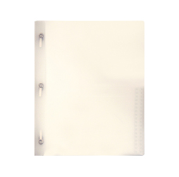 2-Pocket Plastic Folder with Fasteners, Clear Plastic Folder