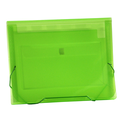 CLEAR-LINE 7-pocket Poly Expanding File, Transparent Green