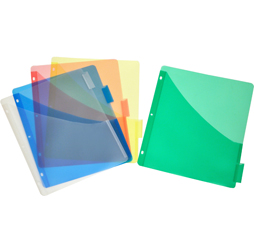 Plastic Pocket Dividers, 5-tab, Single Pocket