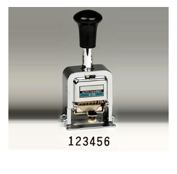 Heavy-Duty 6-digit Automatic Numbering Machine, Gothic