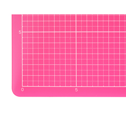 Colorful Translucent Cutting Mat, 9 X 12, Translucent Red