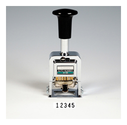 Heavy-Duty 5-digit Automatic Numbering Machine, Gothic
