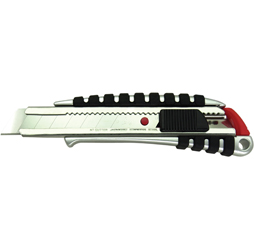Heavy-Duty Die-Cast Cushioned Grip Auto Lock Snap Off Utility Knife