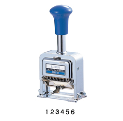 Heavy-Duty 6-digit Rubber faced Wheel Automatic Numbering Machine